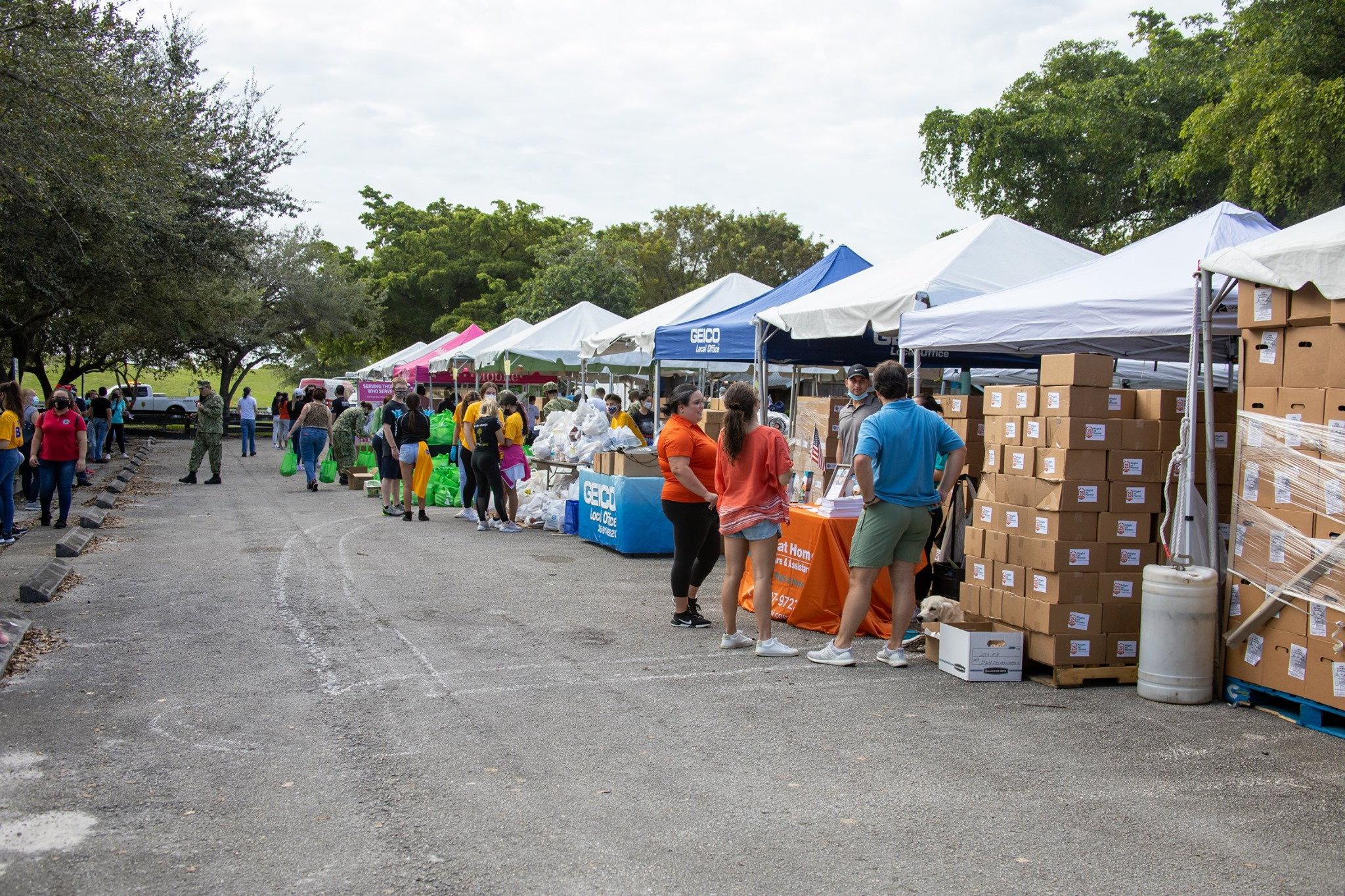 <b>2020 Community Salute to Our Veterans</b><br> On October 24th, 2020, a team of our volunteers assisted with the collection and distribution of community 'care packages' for our military veterans, including many seniors who have served for this great country. It was an honor to help.